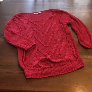 Pink Old Navy 3/4 Sleeve Sweater Small